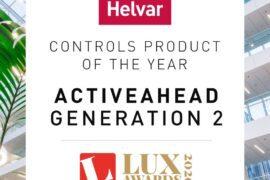 Rozwiązanie ActiveAhead® wygrywa podczas 2020 Lux Awards w kategorii Controls Product of the Year
